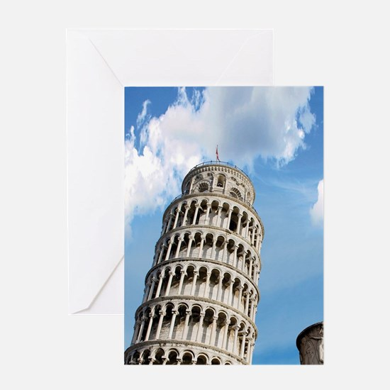 The Leaning Tower of Pisazza dei Mir Greeting Card