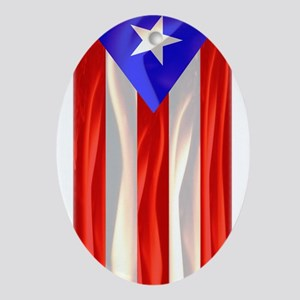 Bandera de Puerto Rico Oval Ornament