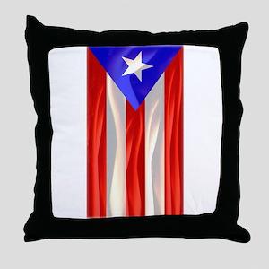 Bandera de Puerto Rico Throw Pillow