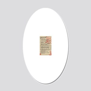 zombie-fact-sheet 20x12 Oval Wall Decal