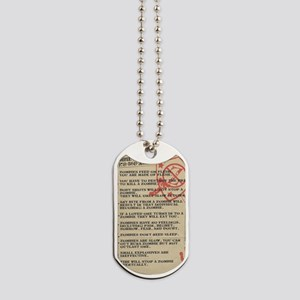 zombie-fact-sheet Dog Tags