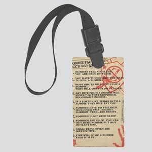 zombie-fact-sheet Large Luggage Tag