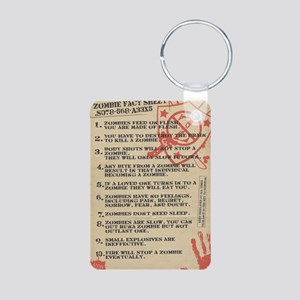 zombie-fact-sheet Aluminum Photo Keychain