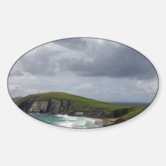 Ireland, Kerry, Dingle Peninsula. S Sticker (Oval)