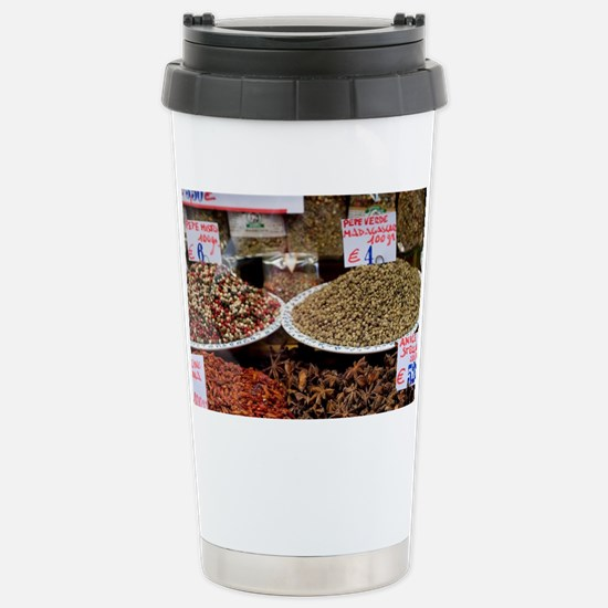 Italy - Herbs and spices are on Stainless Steel Tr