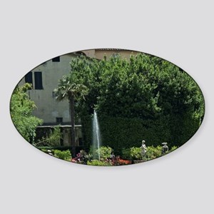 Palazzo Pfanner, Lucca, Tuscany, It Sticker (Oval)