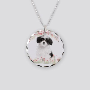 flowers Necklace Circle Charm