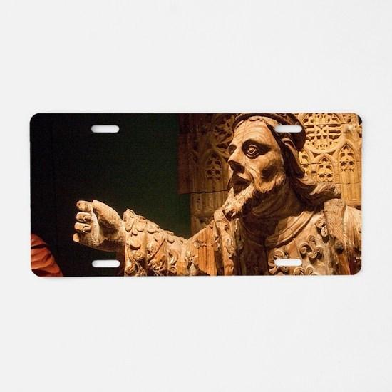 16th Century wooden statue  Aluminum License Plate