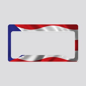 puerto_rico_flag License Plate Holder