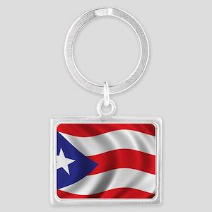 puerto_rico_flag Landscape Keychain