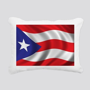 puerto_rico_flag Rectangular Canvas Pillow