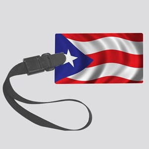 puerto_rico_flag Large Luggage Tag