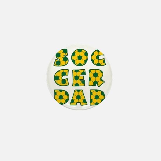wh, green  gd, Dad block Mini Button