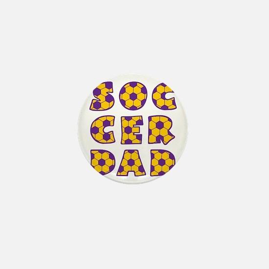 wh, purple  gd, Dad block Mini Button