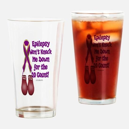 Epilepsy KO Drinking Glass