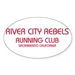 Rivery City Rebels Oval Sticker