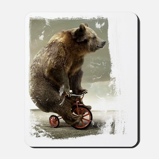 bear on tricycle10 Mousepad