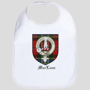 MacLean Clan Crest Tartan Bib