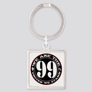 wearethe99percent3-white Square Keychain