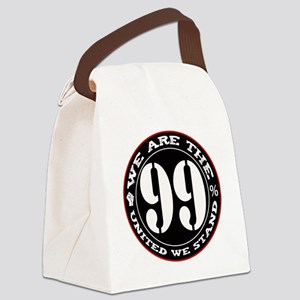 wearethe99percent3-white Canvas Lunch Bag