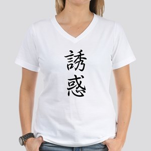 NCKanjishop TEMPTATION Women's V-Neck T-Shirt