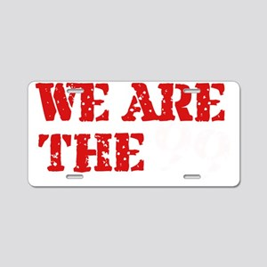 We Are The 99 -black Aluminum License Plate