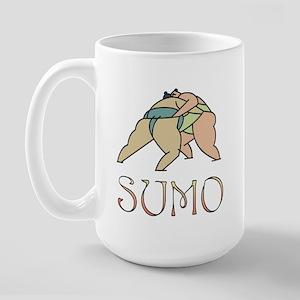 Sumo Wrestling Large Mug