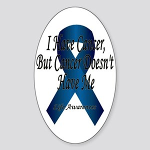 Thyroid Cancer Oval Sticker