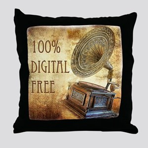 100% Digital Free Throw Pillow