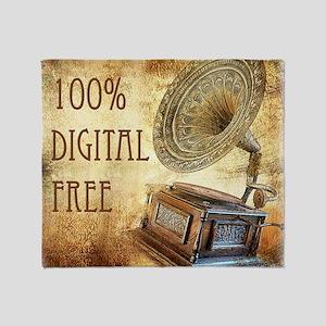 100% Digital Free Throw Blanket