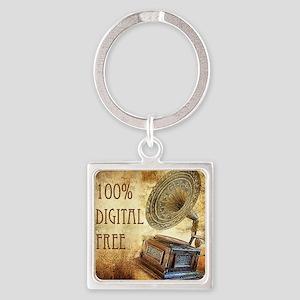 100% Digital Free Square Keychain