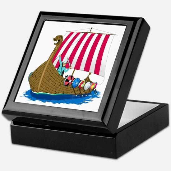 Viking Ship Keepsake Box