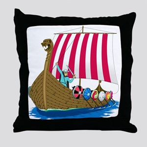 Viking Ship Throw Pillow