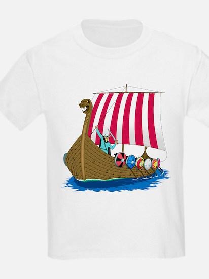 Viking Ship Kids T-Shirt