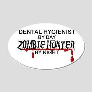 Zombie Hunter - Dental Hygienist 20x12 Oval Wall D