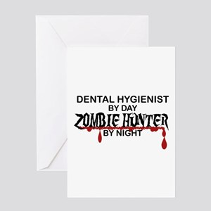 Zombie Hunter - Dental Hygienist Greeting Card