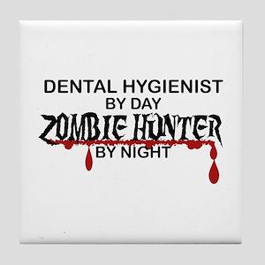 Zombie Hunter - Dental Hygienist Tile Coaster