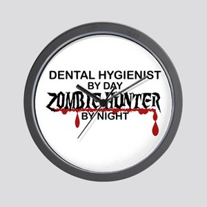 Zombie Hunter - Dental Hygienist Wall Clock