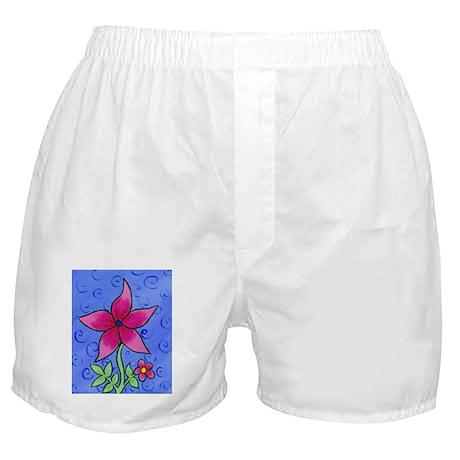 Pink Flower Boxer Shorts