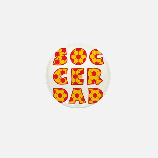 wh, red  gd, Dad block Mini Button