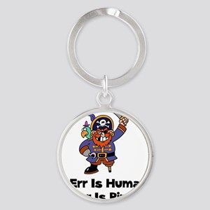 FBC To Arr Is Pirate Black ONLY Round Keychain