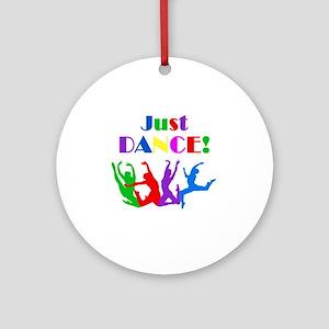 Just Dance dark Round Ornament