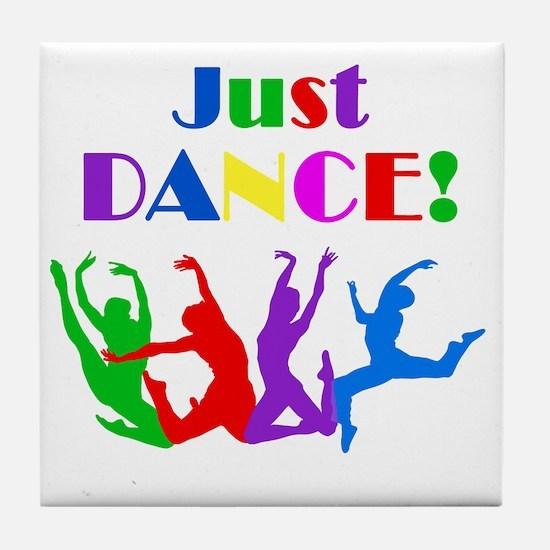 Just Dance dark Tile Coaster