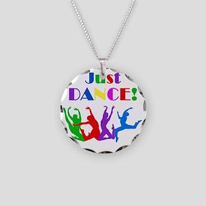 Just Dance dark Necklace Circle Charm