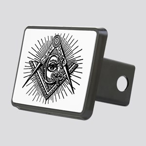 Masonic Square Compass and Rectangular Hitch Cover