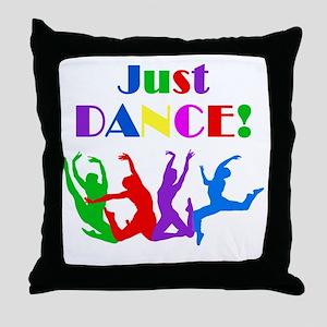 Just Dance dark Throw Pillow