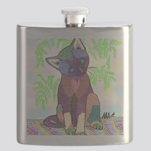 Kitty Pet Star (Note Card) Flask