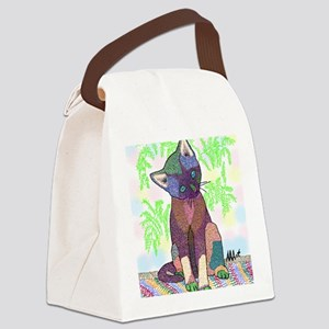 Kitty Pet Star (Note Card) Canvas Lunch Bag
