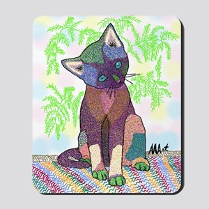 Kitty Pet Star (Note Card) Mousepad