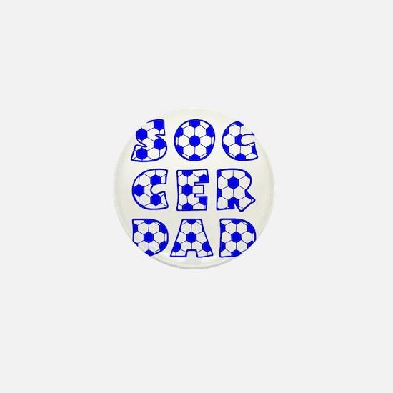 white  blue, Dad block Mini Button